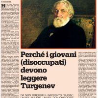 Perché i giovani (disoccupati) devono leggere Turgenev  (di Carlo Pizzati)
